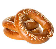 Bagels with sesame seeds isolated Stock Photo