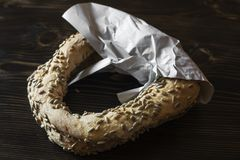 Bagels with sunflower seeds Stock Photos