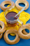 Bagels and tea Stock Photography