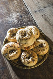 Bagels in a tray Royalty Free Stock Photography