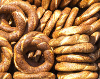 Bagels turcs - Simit Photographie stock libre de droits