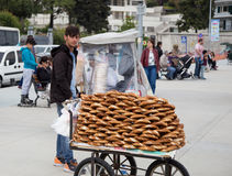 Bagels vendor in Istanbul Royalty Free Stock Images