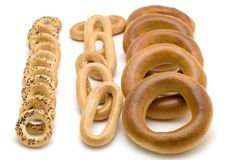 Bagels on white Royalty Free Stock Image