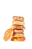 Bagels on white background Royalty Free Stock Images