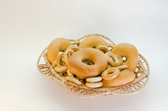 Bagels. On white background Stock Image
