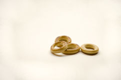Bagels. On white background Stock Photos