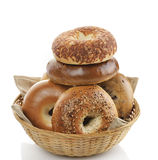 Bagels  On White Background Royalty Free Stock Photo