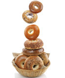 Bagels  On White Background Stock Photo