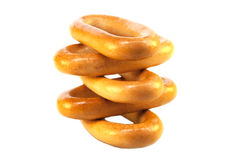 Bagels on a white background isolated Stock Photo