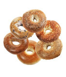 Bagels  On White Background Stock Photography