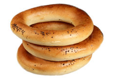 Bagels  on a white background Stock Images