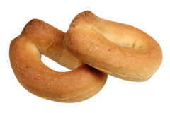 Bagels on a white background Royalty Free Stock Images