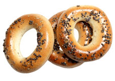 Bagels on a white background Stock Photo