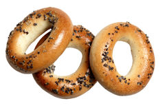 Bagels on a white background Royalty Free Stock Photos
