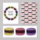 Bageri, baner för bakelsesötsak- och efterrättvektor med kakor och muffin, muffin, pajer och tarts, ljusbruna puddingar för vanil royaltyfri illustrationer