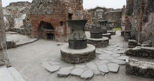 Bageri i Pompeii Royaltyfri Foto