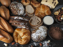 Bageri som utformar sund mat royaltyfria bilder