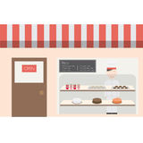 Bagerihuskafé och bistroer Arkivbild