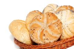 bagerikorgprodukter royaltyfri fotografi