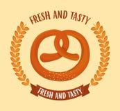 bageriproduktdesign royaltyfri illustrationer