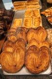 Bageriprodukter från smördeg Arkivfoto