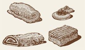 bageriset vektor illustrationer