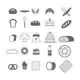 Bagerisymbolsuppsättning Arkivfoto