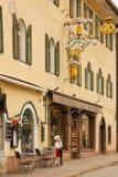 Bagerit och kakan shoppar Berchtesgaden germany royaltyfri bild