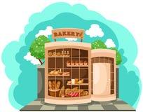 bagerit shoppar stock illustrationer