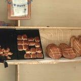 Bagerit shoppar i Tripoli Arkivfoton