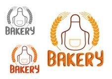 Bagerit shoppar skylt- eller emblemdesign Arkivbild