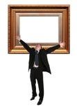 Baget del marco del hombre de negocios y Imagen de archivo