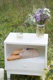 Bagetter på en vit sockel Royaltyfria Bilder