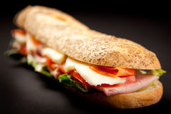 bagettsmörgås Arkivfoton