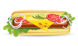 bagettsmörgås Royaltyfri Bild