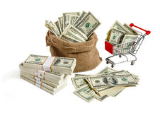 Bagful money Stock Photo