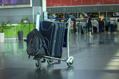 Baggage in airport Stock Images