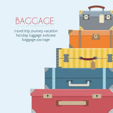 Baggage on background. Royalty Free Stock Images