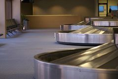 Baggage carousal. Empty in an airport terminal Royalty Free Stock Photo