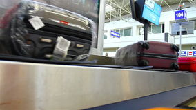 Baggage carousel at the airport stock video footage