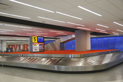 Baggage carousel in JetBlue Terminal 5 at JFK International Airport in New York Stock Photography