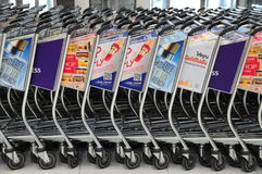 Baggage cart Thailand Stock Photo