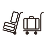 Baggage cart - travel icons Stock Photos