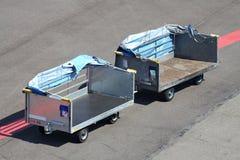 Baggage carts Royalty Free Stock Photo