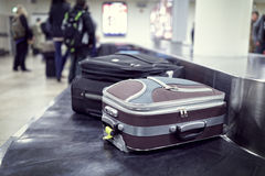 Baggage claim at airport stock photos