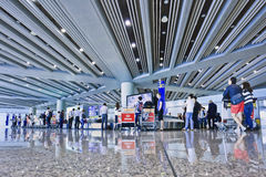 Baggage claim area Beijing Capital International Airport Stock Photography