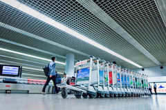 Baggage claim area Beijing Capital International Airport Royalty Free Stock Photography