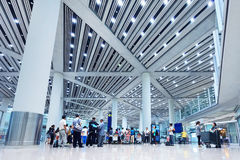 Baggage claim Beijing Capital Airport Terminal 3 Stock Photo