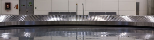 Baggage claim belt. At the airport in Madrid Royalty Free Stock Photos