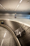 Baggage claim line in airport terminal Stock Images